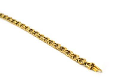 Cordão Masculino Friso em ouro 18 K com 50 cm