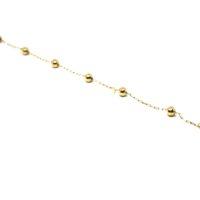 Pulseirinha Infantil Bolinhas - Grandes - em ouro 18 K