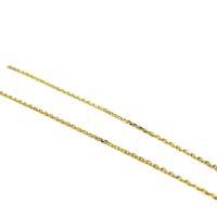 Fino Cordão Cadeado ou Cartier em Ouro 18K - 50 cm