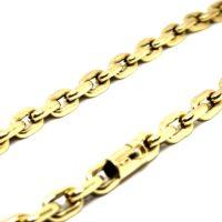 Cordão Cadeado Oco com 180 gramas de ouro 18k