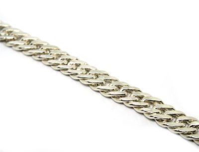Cordão Groumet Duplo em Prata de Lei - 60 cm