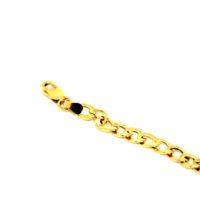 Pulseira Groumet Masculina ouro 18K - oca