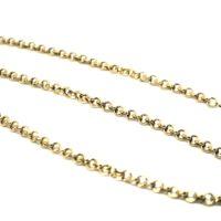 Cordão de Elo Português com 45 cm ouro 18K Oco