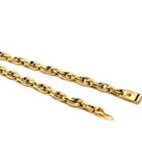Pulseira Elo oval duplo - Escrava dupla em ouro 18 K
