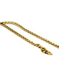 Pulseira Groumet de ouro 18 K com 21 cm