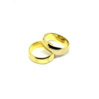 Aliança Meia Cana Simples em ouro 18K