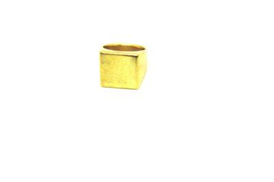 Anel Caixa em Ouro 18 K