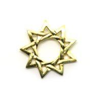 Pingente Estrela de Nove Pontas em Ouro 18 K